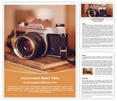 Free Camera Photography Word Template Background, FreeTemplatesTheme