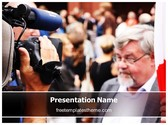 Free Camera Protester PowerPoint Template Background, FreeTemplatesTheme