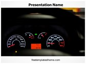 Free Car Dashboard Meters PowerPoint Template Background, FreeTemplatesTheme
