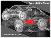 Free Car Modeling PowerPoint Template Background, FreeTemplatesTheme