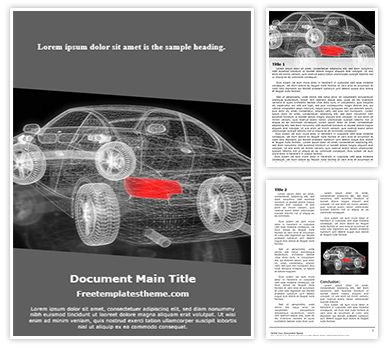 Car Modeling Free Word Doc Template, freetemplatestheme.com