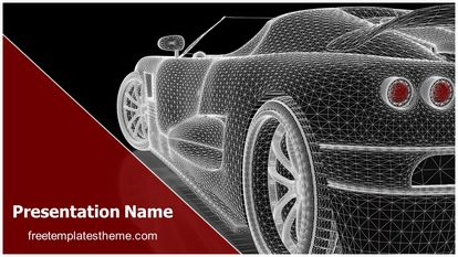 Car Wireframe Free PPT Template Theme Widescreen, FreeTemplatesTheme