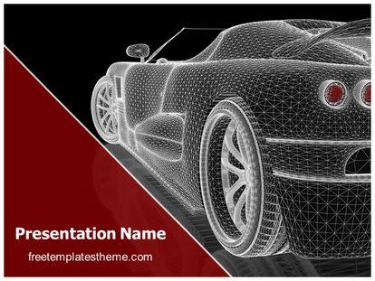 Car Wireframe Free PPT Template Theme, freetemplatestheme.com