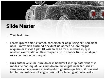 Car Wireframe Free PPT Template Theme, PPT Slide2