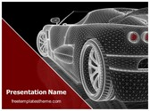 Free Car Wireframe PowerPoint Template Background, FreeTemplatesTheme