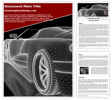Car Wireframe Free Word Document Template, freetemplatestheme.com