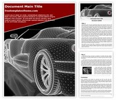 Free Car Wireframe Word Template Background, FreeTemplatesTheme