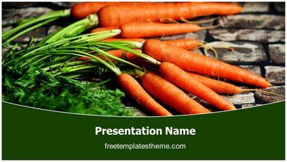 Carrots Vegetable Free Powerpoint Template Design Widescreen FreeTemplatesTheme