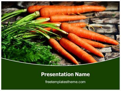 Carrots Vegetable Free Powerpoint Template Design freetemplatestheme.com