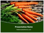 Free Carrots Vegetable PowerPoint Template Background, FreeTemplatesTheme