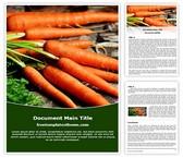 Free Carrots Vegetable Word Template Background, FreeTemplatesTheme