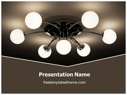 Free ceiling light powerpoint template freetemplatestheme slide1g toneelgroepblik Image collections