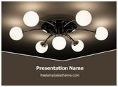 Free Ceiling Light PowerPoint Template Background, FreeTemplatesTheme