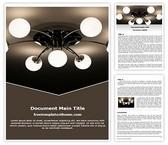 Free Ceiling Light Word Template Background, FreeTemplatesTheme