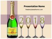 Free Champagne Celebration PowerPoint Template Background, FreeTemplatesTheme