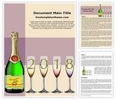 Free Champagne Celebration Word Template Background, FreeTemplatesTheme