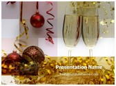 Free Champagne Decorations PowerPoint Template Background, FreeTemplatesTheme