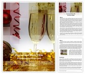 Free Champagne Decorations Word Template Background, FreeTemplatesTheme