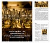 Free Champagne Word Template Background, FreeTemplatesTheme
