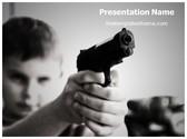 Free Child Gangster PowerPoint Template Background, FreeTemplatesTheme