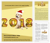 Free Chinese Dog Year 2018 Word Template Background, FreeTemplatesTheme
