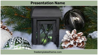 Christmas Decoration Free Powerpoint Template Widescreen FreeTemplatesTheme