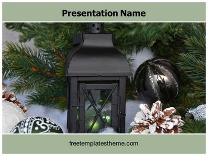 Christmas Decoration Free Powerpoint Template, freetemplatestheme.com
