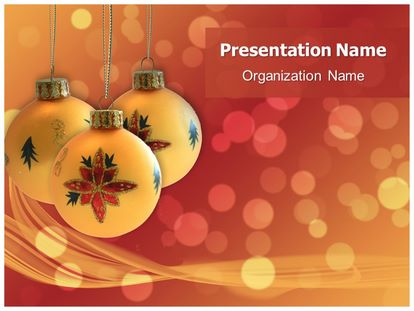 free christmas decorations powerpoint template, Modern powerpoint