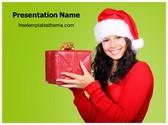 Free Christmas Gift PowerPoint Template Background, FreeTemplatesTheme