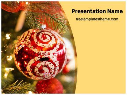 Free Christmas Xmas Decoration Powerpoint Template