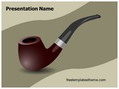Free Cigar Pipe PowerPoint Template Background, FreeTemplatesTheme