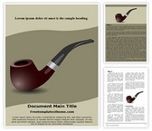 Free Cigar Pipe Word Template Background, FreeTemplatesTheme