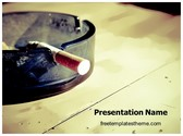 Free Cigarette PowerPoint Template Background, FreeTemplatesTheme
