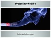 Free Cigarette Smoke PowerPoint Template Background, FreeTemplatesTheme