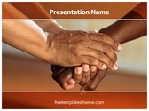 Free Clasped Hands Comfort PowerPoint Template Background, FreeTemplatesTheme