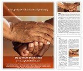 Free Clasped Hands Comfort Word Template Background, FreeTemplatesTheme