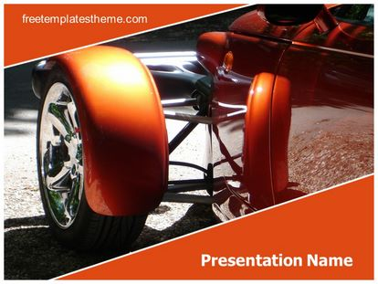 Classic Car Free Powerpoint Template, freetemplatestheme.com