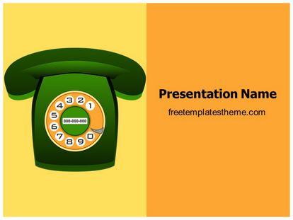 Free Classic Phone Powerpoint Template Freetemplatestheme