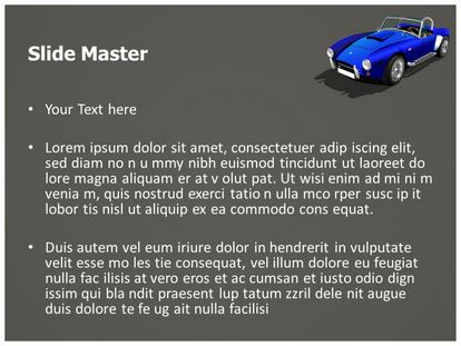 Classic Sports Car Free PPT Template, PPT Slide2