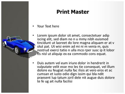 Classic Sports Car Free PPT Template, PPT Slide3