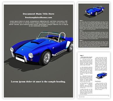 Classic Sports Car Free Word Doc Template, freetemplatestheme.com