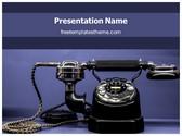 Free Classic Telephone PowerPoint Template Background, FreeTemplatesTheme