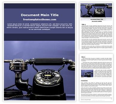 Classic Telephone Free Word Doc Template, freetemplatestheme.com