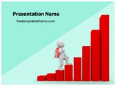 Free Climbing Success Graph PowerPoint Template Background, FreeTemplatesTheme