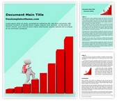 Free Climbing Success Graph Word Template Background, FreeTemplatesTheme