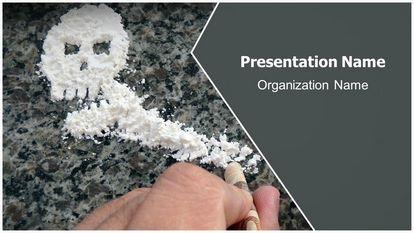 Cocaine Free Powerpoint Template Widescreen, FreeTemplatesTheme