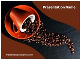 Free Coffee Beans Cup PowerPoint Template Background, FreeTemplatesTheme