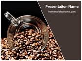 Free Coffee Beans PowerPoint Template Background, FreeTemplatesTheme