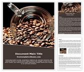 Free Coffee Beans Word Template Background, FreeTemplatesTheme