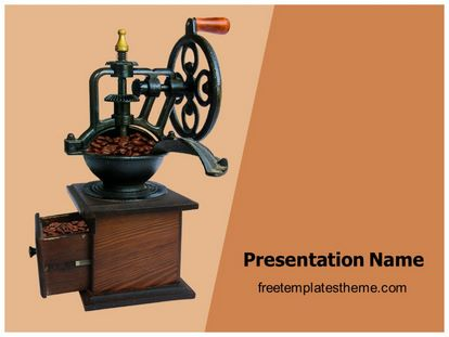 Free coffee grinding machine powerpoint template slide1g toneelgroepblik Images